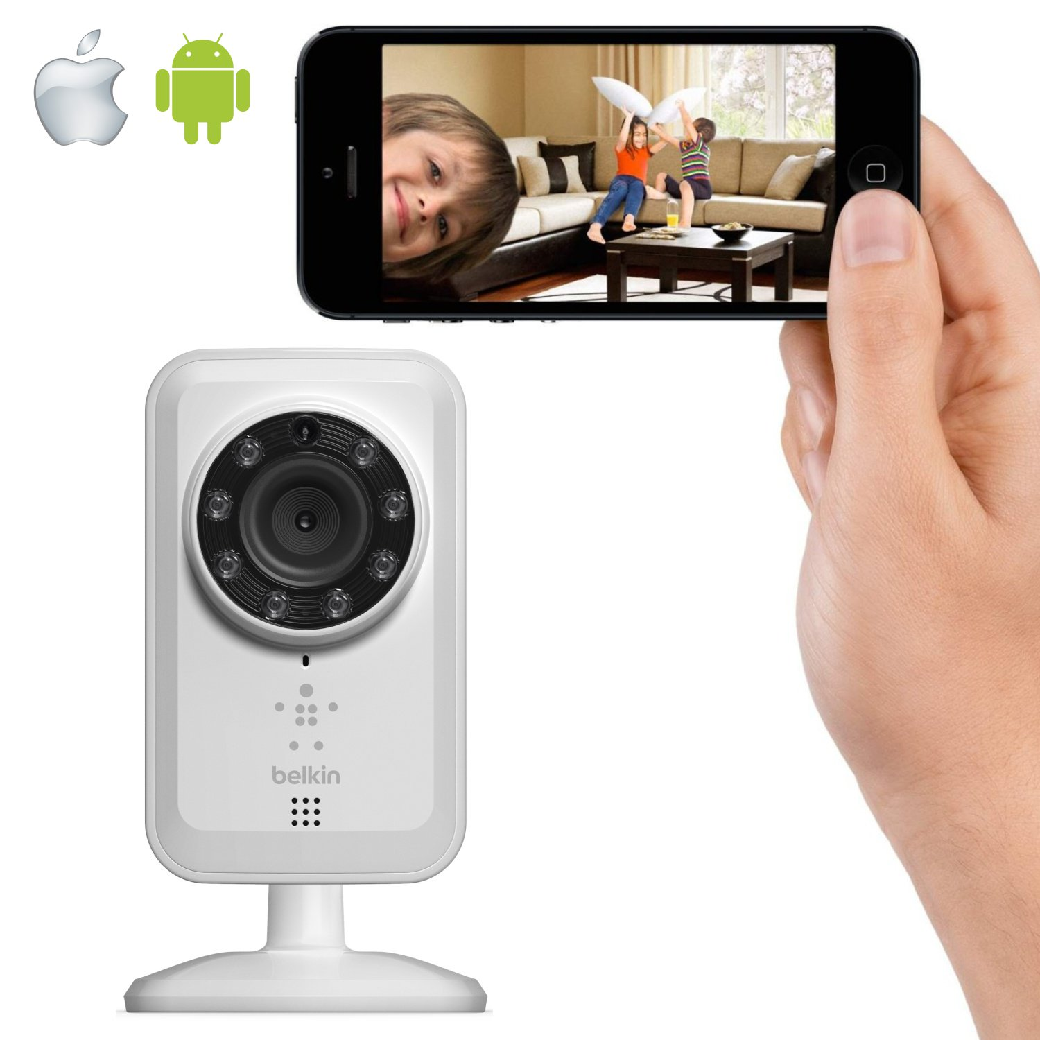 belkin netcam apple iphone ipad ipod android. Black Bedroom Furniture Sets. Home Design Ideas